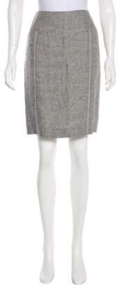 Armani Collezioni Linen Knee-Length Skirt