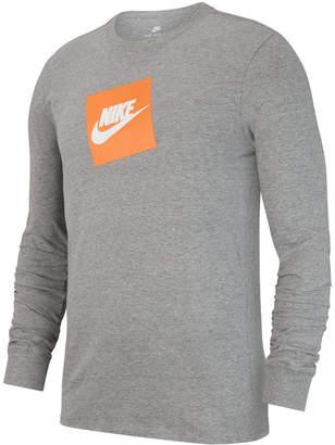 Nike Men's Sportswear Futura Shoebox Logo Long-Sleeve T-Shirt