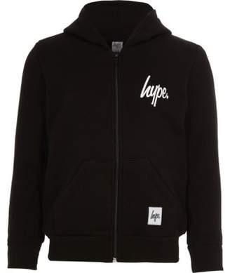 Hype Kids black zip-up hoodie