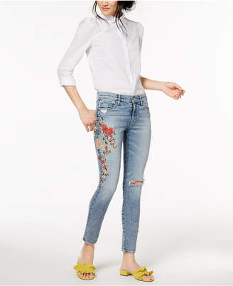 Hudson Nico Embroidered Ankle Skinny Jeans