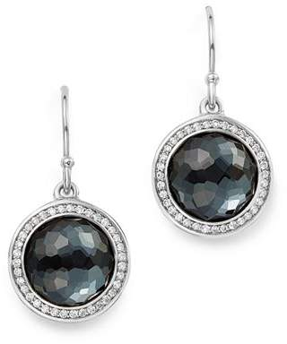 Ippolita Sterling Silver Lollipop Diamond & Hematite Doublet Drop Earrings