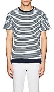 Orlebar Brown Men's Sammy Striped Cotton-Linen Jersey T-Shirt - Blue