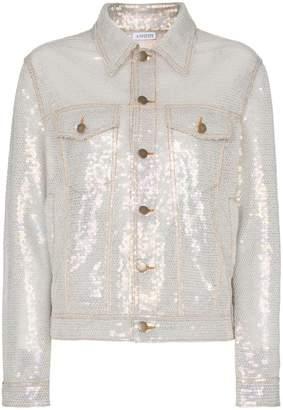 Ashish sequin embellished collared denim style jacket