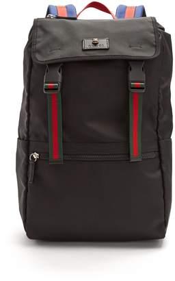 Gucci Web-stripe backpack