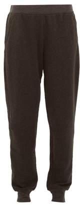 Atm - Slim Leg Cotton Blend Track Pants - Womens - Black Grey