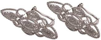 White gold earrings and diamonds