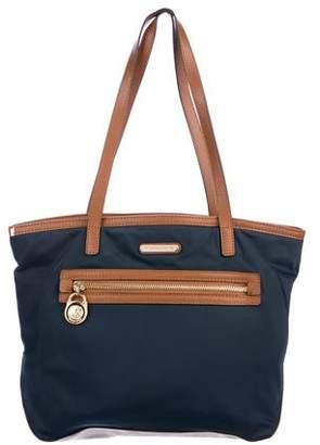 MICHAEL Michael Kors Leather-Trimmed Nylon Shoulder Bag