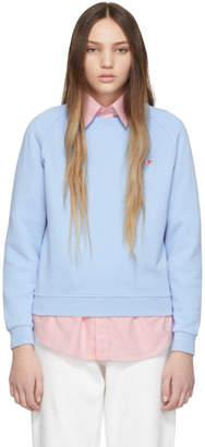 MAISON KITSUNÉ Blue Tricolor Fox Patch Sweatshirt