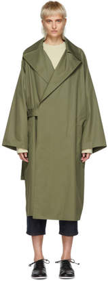 Y's Ys Khaki Cotton Trench Coat
