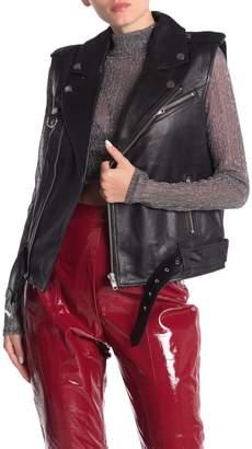 LPA Leather Moto Vest