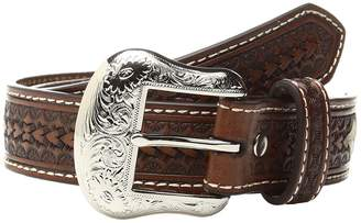 M&F Western Rawhide Lacing Silver Concho Belt Men's Belts