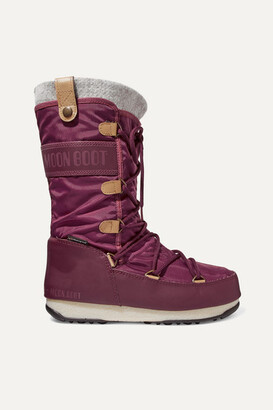 Moon Boot Monaco Felt-lined Shell And Faux Leather Snow Boots