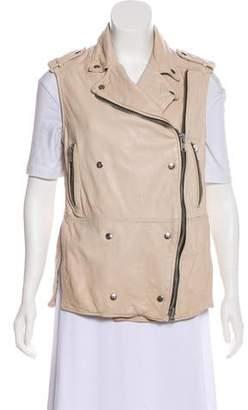 Etoile Isabel Marant Leather Moto Vest