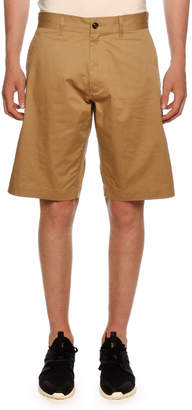 Moncler Men's Twill Shorts w/ Tricot Rope Trim