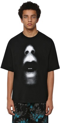 Marcelo Burlon County of Milan Over Printed Cotton Jersey T-shirt