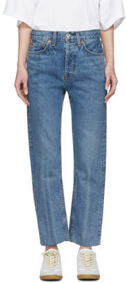 RE/DONE Blue Originals Stove Pipe Jeans