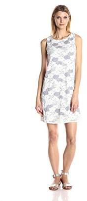 Tiana B Women's Sleeveless Two Tone Trapeze Dress