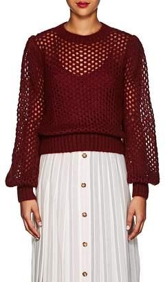 Zimmermann Women's Open-Knit Mohair-Blend Crewneck Sweater