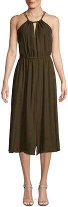 Milly Mykonos Halterneck Midi Dress
