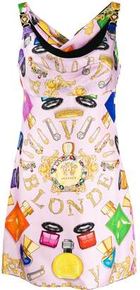 Versace Blonde printed dress