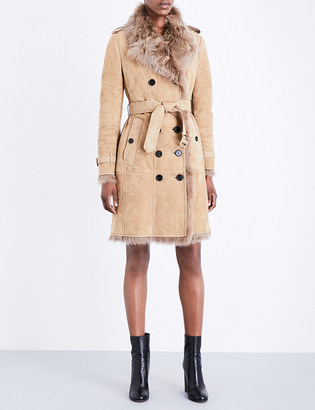 BURBERRY Toddingwall shearling coat $2,095 thestylecure.com