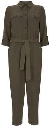 Mint Velvet Khaki Utility Jumpsuit