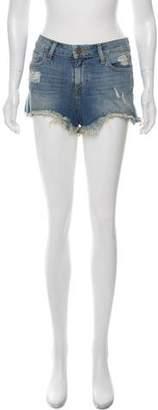 Paige Denim Distressed Mini Shorts w/ Tags