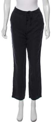 James Perse Linen Mid-Rise Straight-Leg Joggers w/ Tags