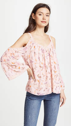 Rebecca Minkoff Deneuve Cold Shoulder Top