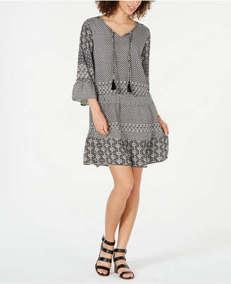 Style&Co. Style & Co Printed Tiered Dress
