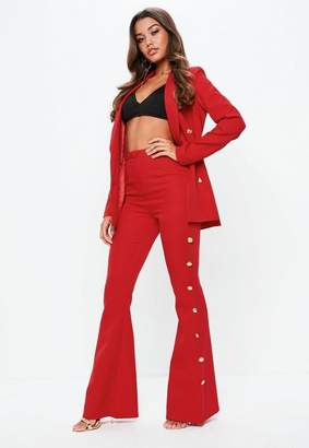 Missguided Tall Red Military Suit Pants