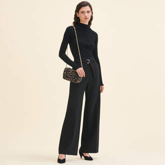 Maje Wide high-waisted trousers