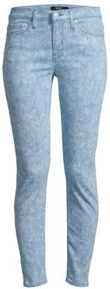 Hudson Jeans Nico Mid-Rise Spray Ankle Skinny Jeans