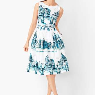 Talbots Scenic Rome Fit & Flare Dress