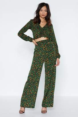 Nasty Gal The Time is Meow Leopard Pants