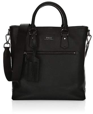 Polo Ralph Lauren Tailored Pebble Leather Tote