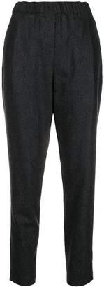 Fabiana Filippi elasticated waistband tapered trousers