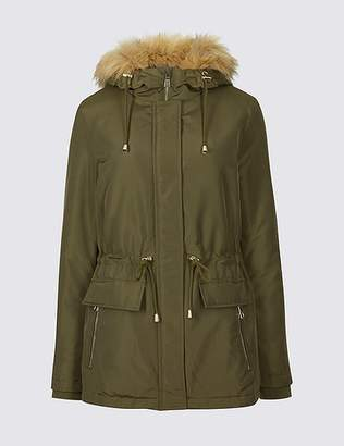 Marks and Spencer PETITE Drawstring Waist Parka with StormwearTM
