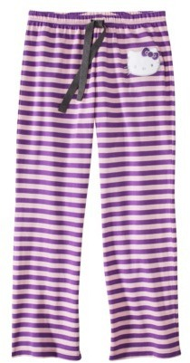 Hello Kitty Juniors French Terry Sleep Pant - Stripe