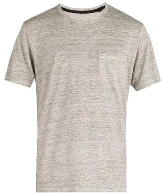 Rag & Bone Owen Linen T Shirt - Mens - Grey