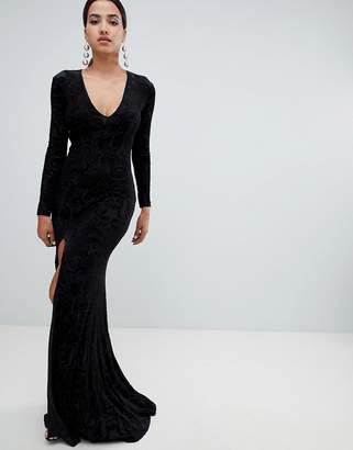 Forever Unique Velvet Maxi Dress