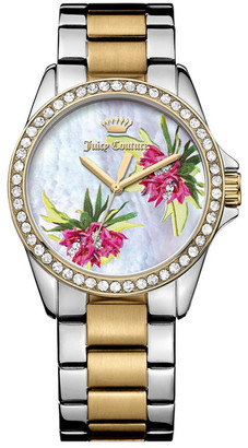 Juicy Couture Women's Laguna Two-Tone Crystal Bracelet Watch $275 thestylecure.com