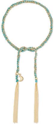 Carolina Bucci Wisdom Lucky 18-karat Gold And Silk Bracelet