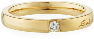 Salvini 18k Gold Flat Diamond Ring, Size 6