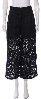 Markus Lupfer Lace Wide-Leg Pants w/ Tags
