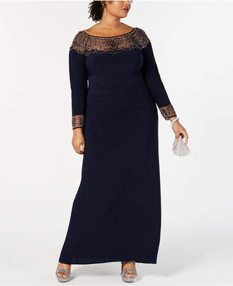 f64e7733bbada Xscape Evenings Illusion Neckline Dresses - ShopStyle Australia