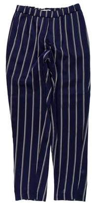 Closed Striped Mid-Rise Pants