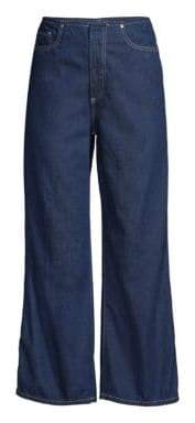 AG Jeans Etta Wide-Leg Cropped Jeans