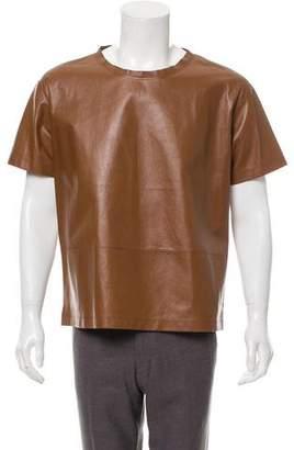 Valentino Short Sleeve Leather T-Shirt