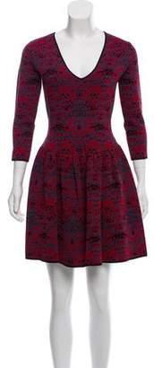 Marchesa Long Sleeve Mini Dress